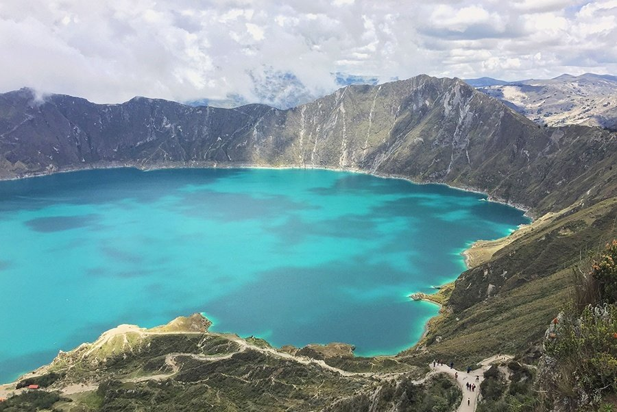 quilotoa lake summer vacation destinations